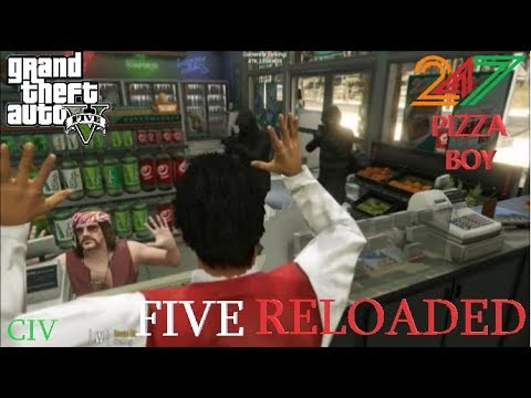 GTA 5 RP-FiveReloaded-Ep 6: Pizza Delivery Boy