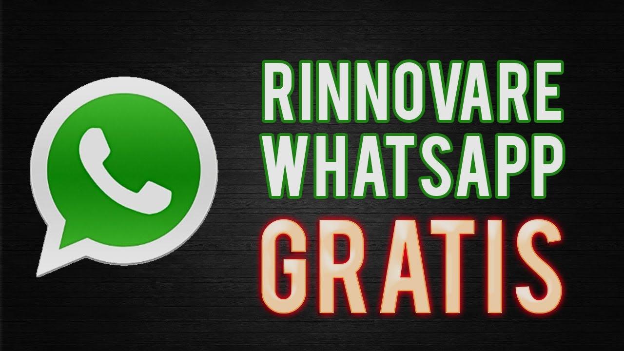 COME RINNOVARE GRATIS: WhatsApp