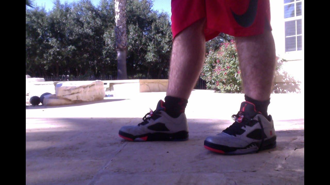 1f118273003 Air Jordan 5 Low Neymar on foot - YouTube