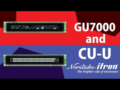 Noritake VFD: GU and CU Comparison - Atmel AVR