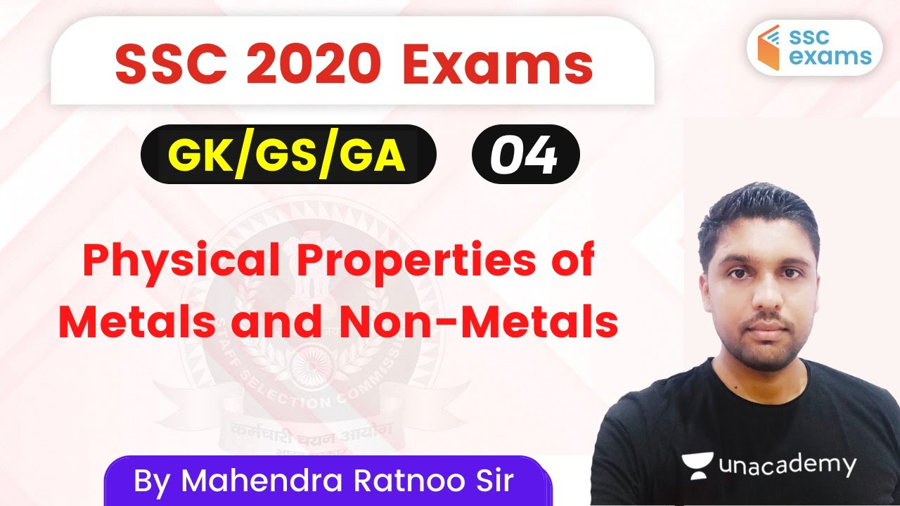 3:00 PM - SSC 2020 Exams | GK/GS/GA by Mahendra Sir | Chemical Properties of Metals and Non-Metals