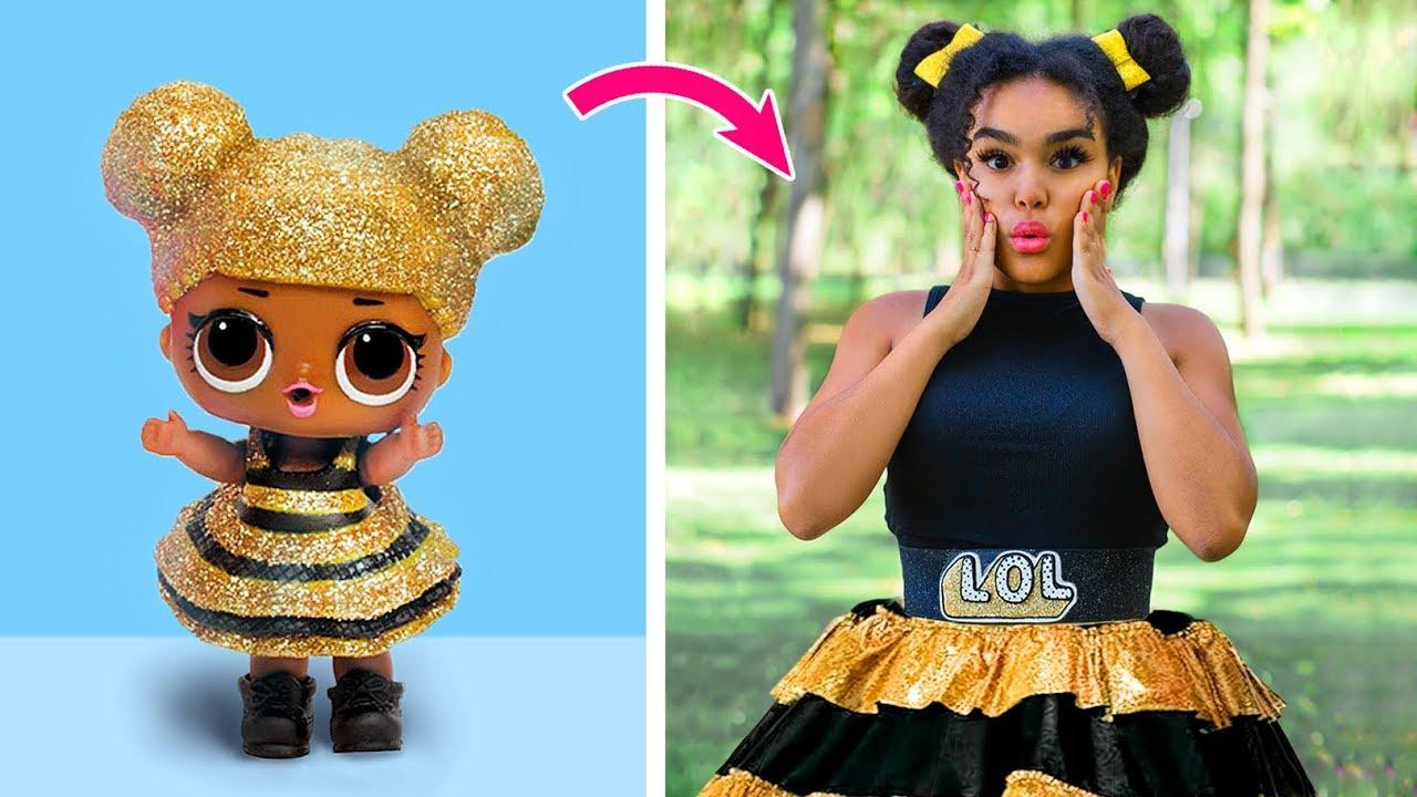 Превращаю себя в куклу ЛОЛ / Куклы ЛОЛ в реальной жизни – 10 идей