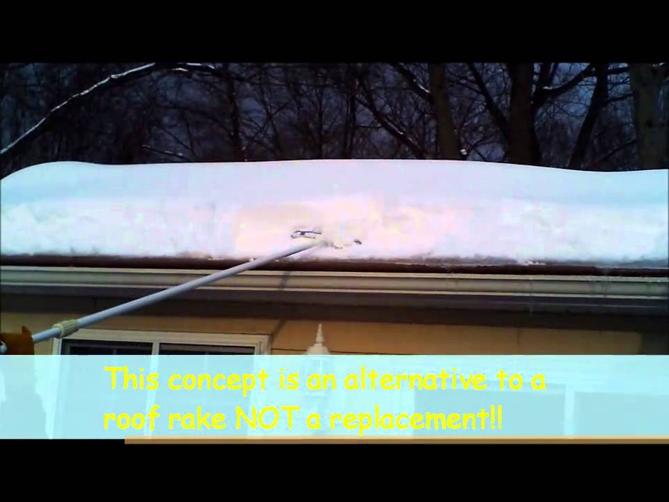 How To Remove Snow From A Roof Without A Roof Rake Doovi