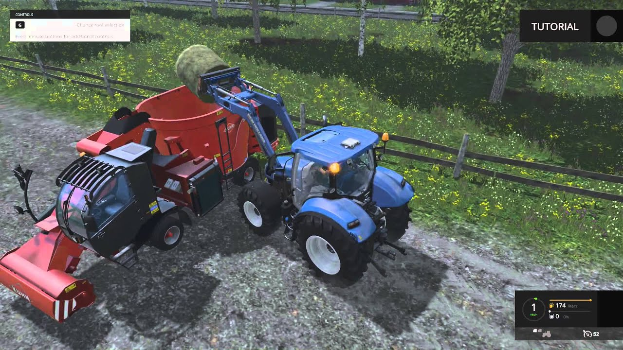 Farming Simulator Tutorial Feeding Cows YouTube - Farming simulator 2015 us map feed cows