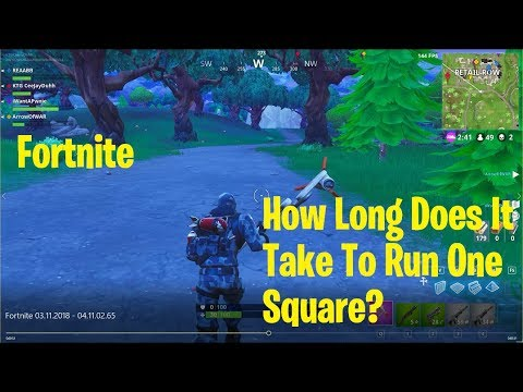 How Long Does it Take to Run One Square in Fortnite?