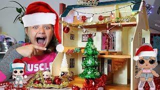 LOL SURPRISE CHRISTMAS HOUSE! LOL Dolls DIY Christmas FUN!