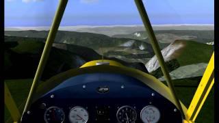 Flightgear Piper J-3 Cub - LSGG Geneva to LFKZ Pratz