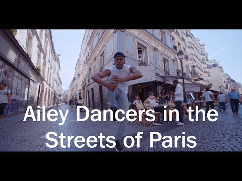 Ailey Dancers in the Streets of Paris
