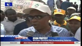 Osun State Workers Demand For Unpaid Salaries In Protest