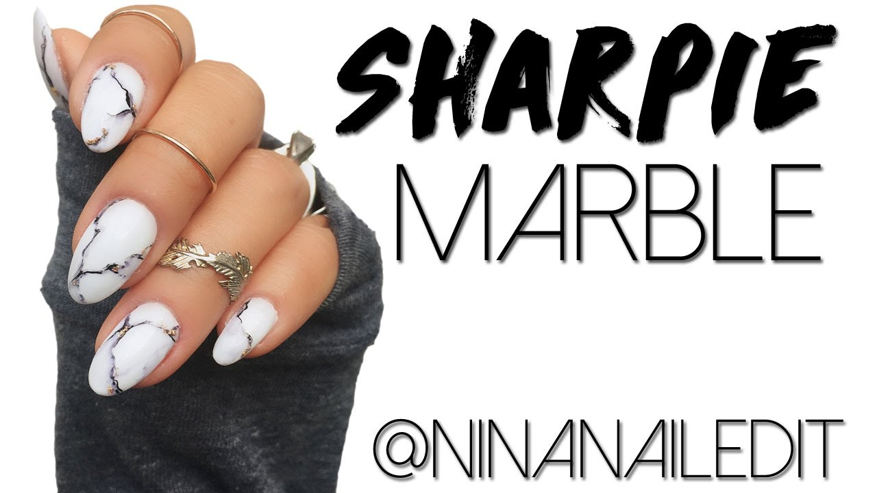 Marble nails with a sharpie marker youtube marble nails with a sharpie marker solutioingenieria Images