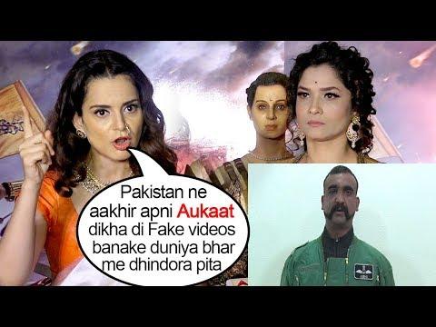 Kangana Ranaut SLAMS Pak's Big Drama On Releasing Cap. Pilot Abhinandhan Varthaman