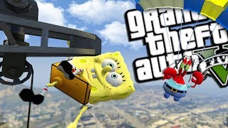 SPONGEBOB VS MR KRABS MOD (GTA 5 PC Mods Gameplay)