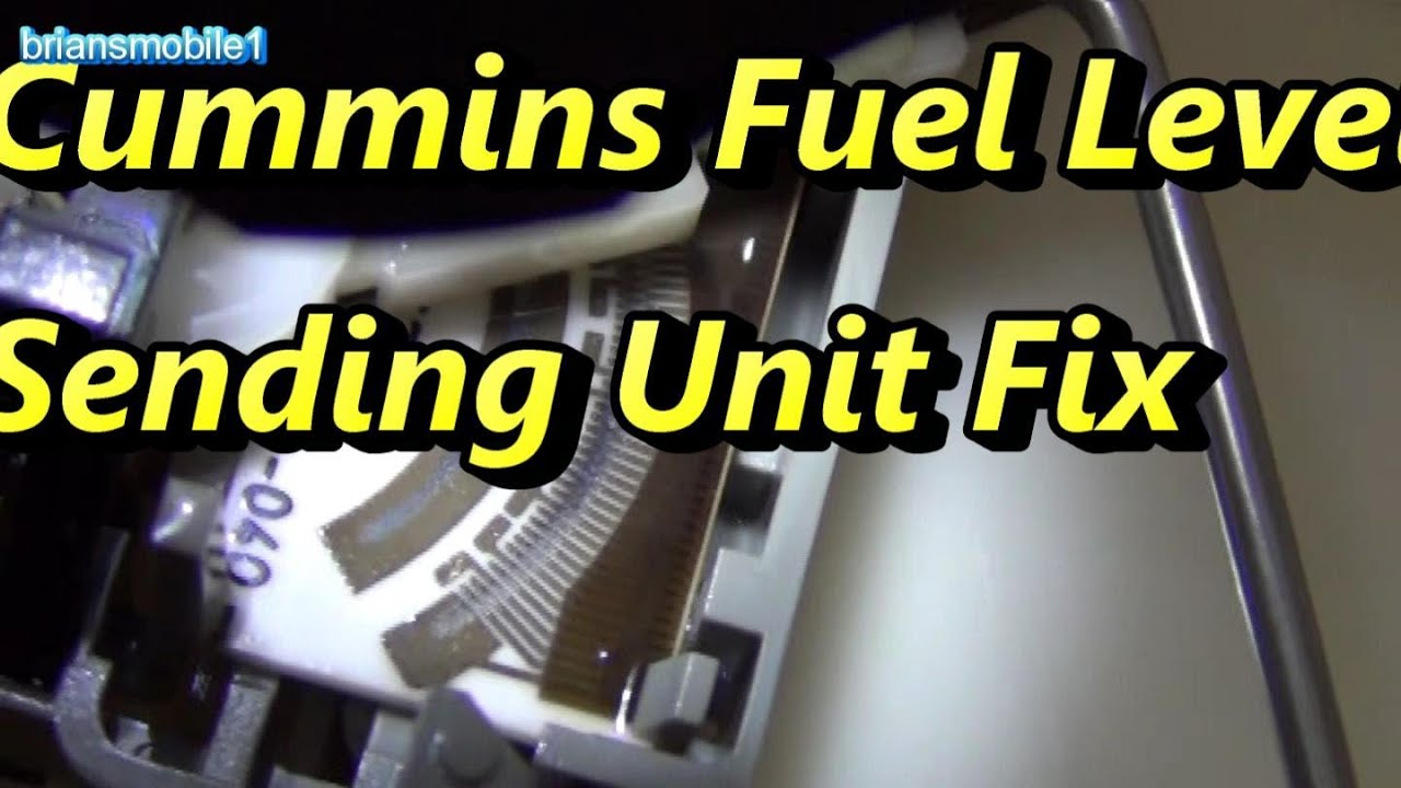 maxresdefault cummins fuel level sending unit fix youtube  at readyjetset.co