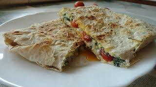 Завтрак за 5 минут/Яйцо с сыром в лаваше!/  Breakfast in 5 minutes