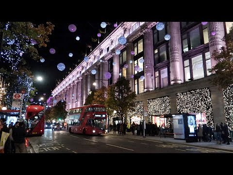 Oxford Street Christmas Lights Switched on 2018
