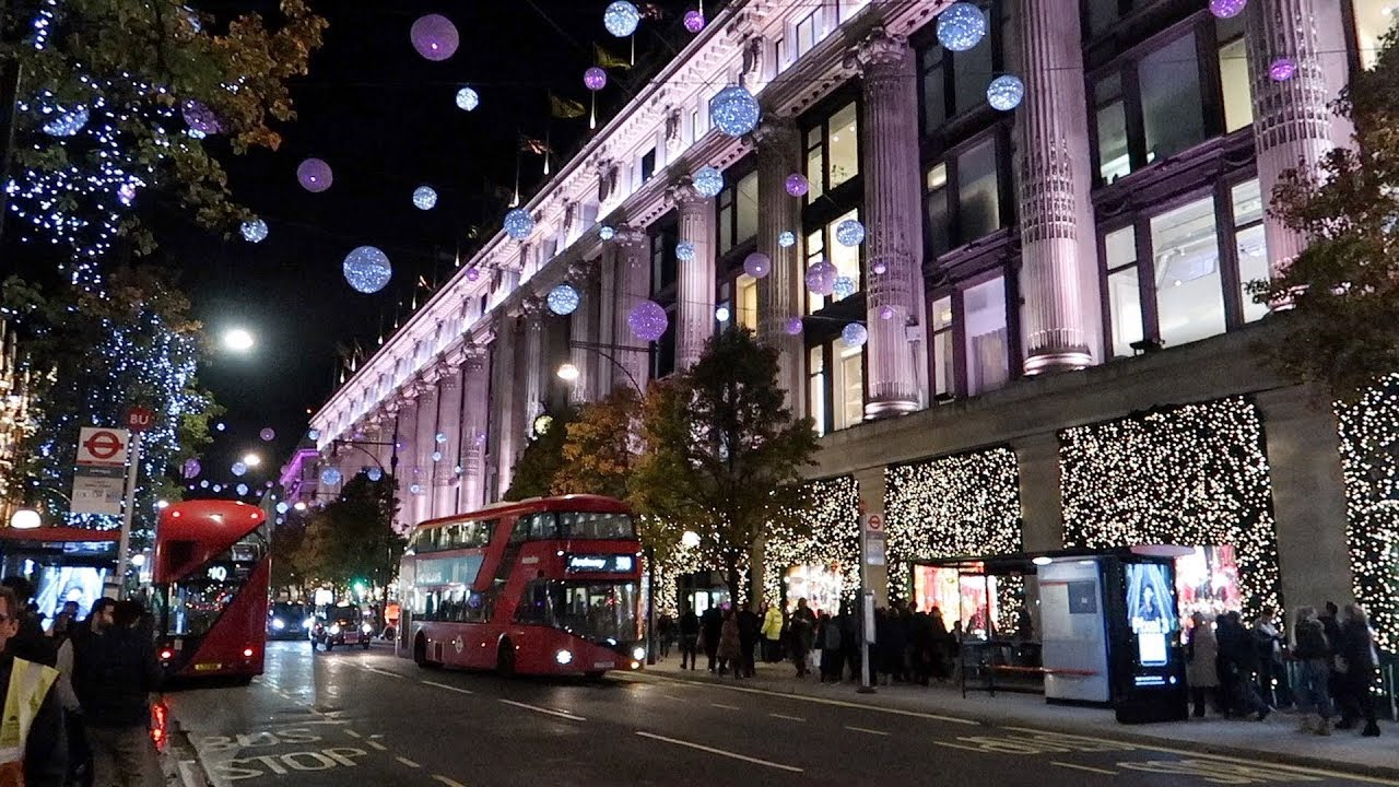 Oxford Street Weihnachtsbeleuchtung.Oxford Street Christmas Lights Switched On 2018