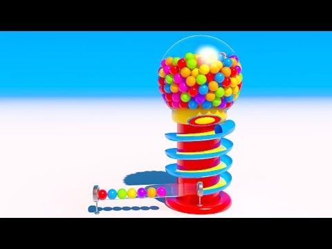 NEW Gumball Machine Learning Colors with 3D Candy for Kids
