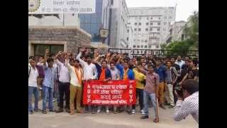 ABVP strike at MTU UPTU NOIDA office on 28th July 2014