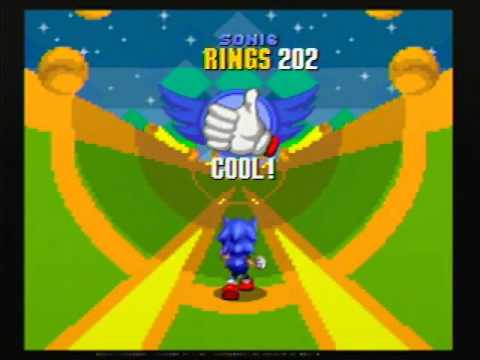 Sonic the Hedgehog 2 - Special Stage 6 (1 Character) - 290 Rings