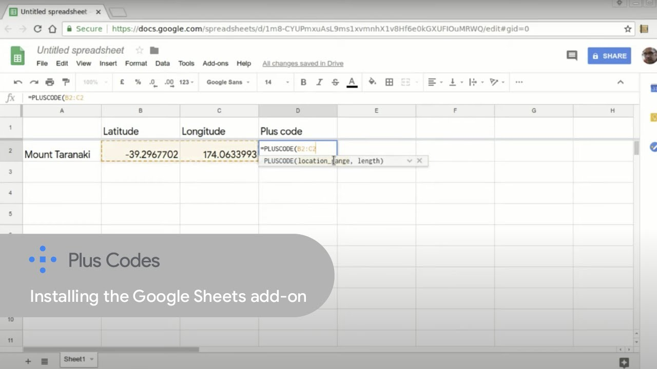 Installing the Google Sheets add-on