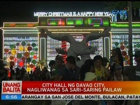 UB: City hall ng Davao City, nagliwanag sa sari-saring pailaw