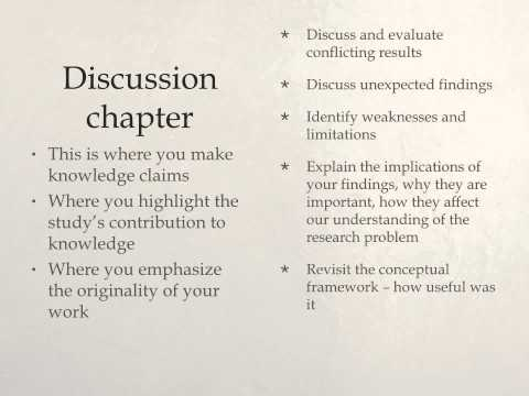 Discussion in dissertation