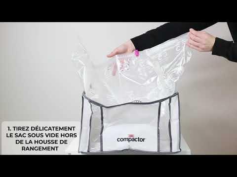 Tutoriel Complet Comment Utiliser Votre Housse Compactor De Rangement Sous Vide Compactor Youtube