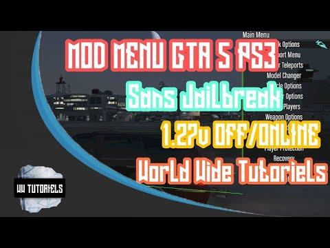 Add MOD MENU GTA V / ONLINE 1 26 - 1 27 - 1 31 PS3 NO JAILBREAK