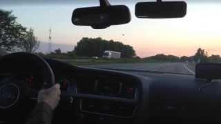 Audi A5 Sportback 2.0 TDI - Driving Fast on German Autobahn - Dortmund - Beckum A2 [Part 1/2]