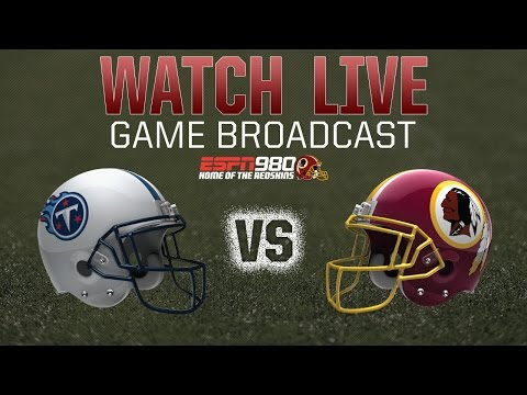 Redskins Radio Booth LIVE vs. Titans