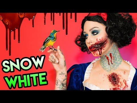 I KILLED SNOW WHITE   Disney Princess Halloween Makeup Tutorial   KristenLeanneStyle