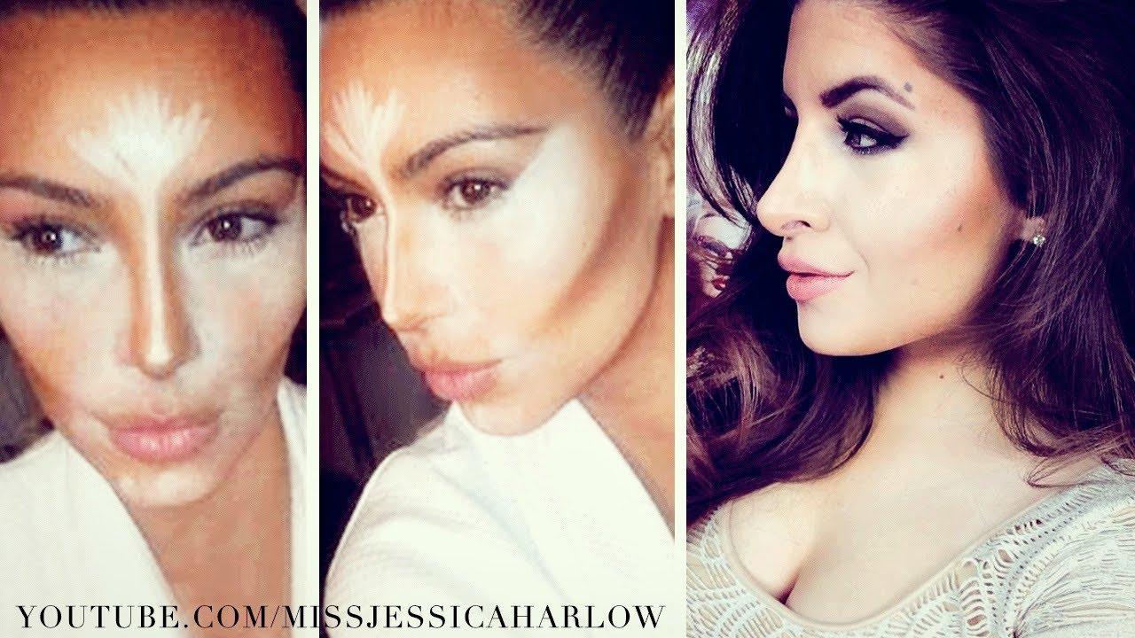 Contouring & Highlighting! Like Kim Kardashian  Missjessicaharlow  Youtube