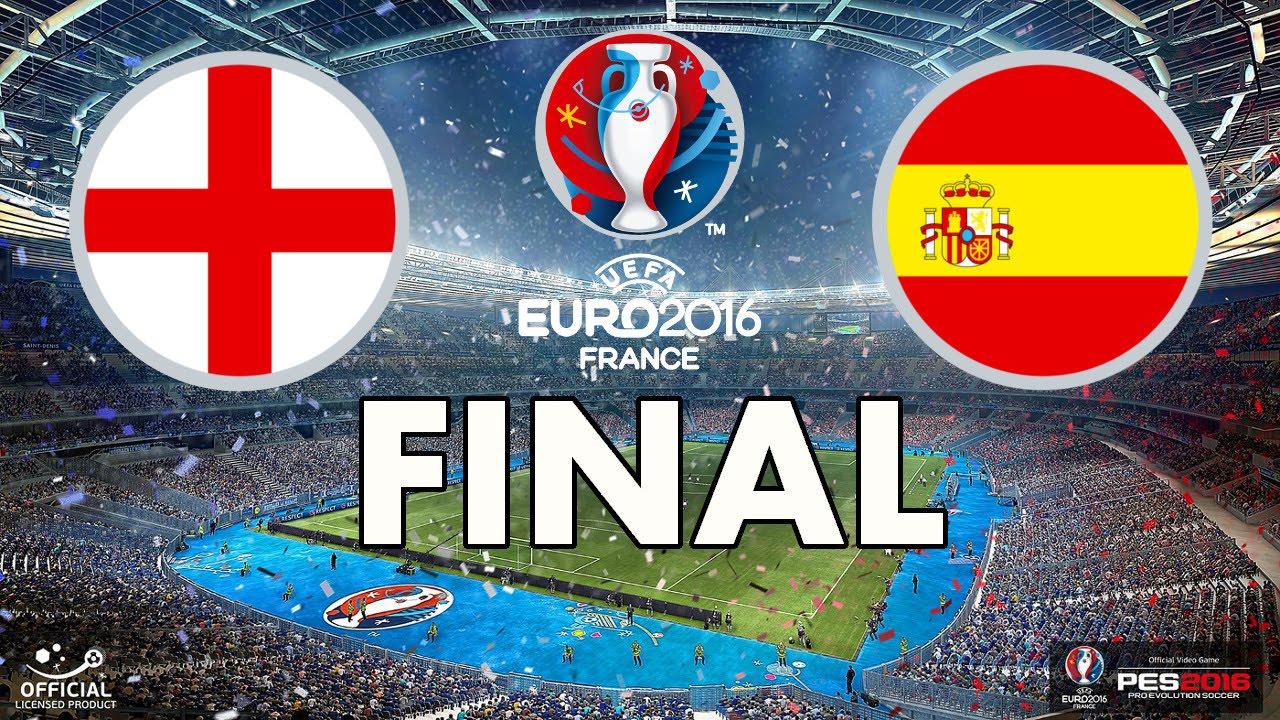 PES 2016 - EURO 2016 - FINAL - England v Spain