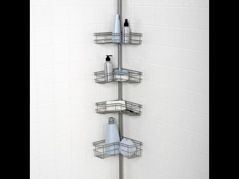 Tension Shower Caddy Nickel Youtube