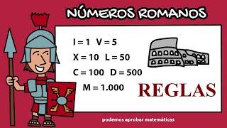 NÚMEROS ROMANOS: REGLAS  DE LA SUMA, RESTA, REPETICIÓN, MULTIPLICACIÓN