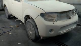 nissan pathfinder покраска авто в сверхпрочное покрытие ТИТАН