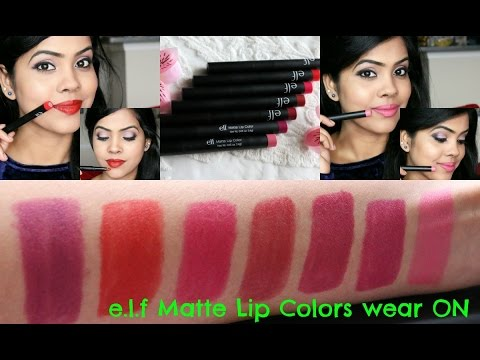 ELF Matte Lip Color New & Old/7 shades Perfect for Indian Brown Skin