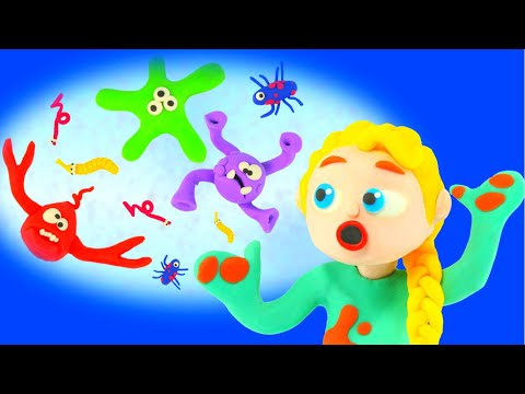 Kids Need To Wash Their Hands After Playing ❤ Cartoons For Kids