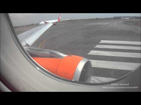 FCO-VCE EasyJet A319 TAKE-OFF from Rome Fiumicino HD