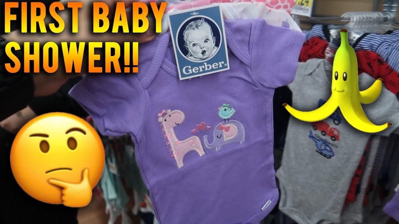 First Baby Shower Banana Costume Youtube