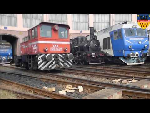 Shunting activity at Sibiu railway depot, Romania