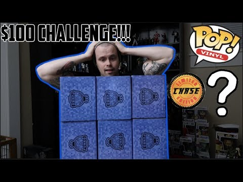 $100 CHALLENGE (BLACK FRIDAY GAMESTOP FUNKO POP MYSTERY BOX) CHASE OR NO CHASE?