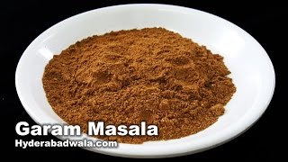 Gambar cover Garam Masala Recipe Video - How to Make Garam Masala Powder at Home - Easy, Quick & Simple