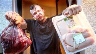 10 Kg Fleisch! Voller Diät Einkauf für Bodybuilder