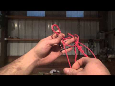 100lb Medieval Style PVC Crossbow for Under $10 Part 5 - Making a Flemish Twist Crossbow String