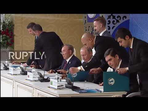 Kazakhstan: Five states sign Caspian Legal Status Agreement