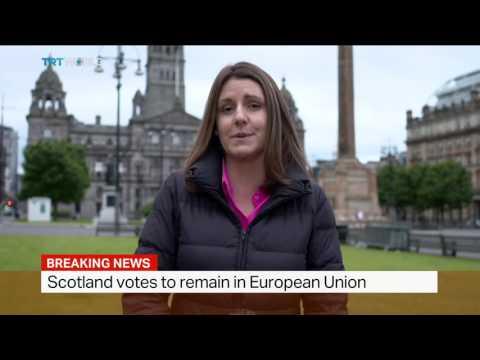 Scotland votes to remain in EU, Sarah Morice reports