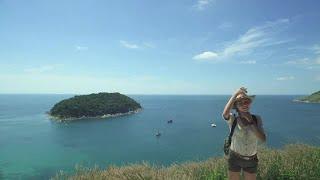 Traveler Fixes Hat Stock Video