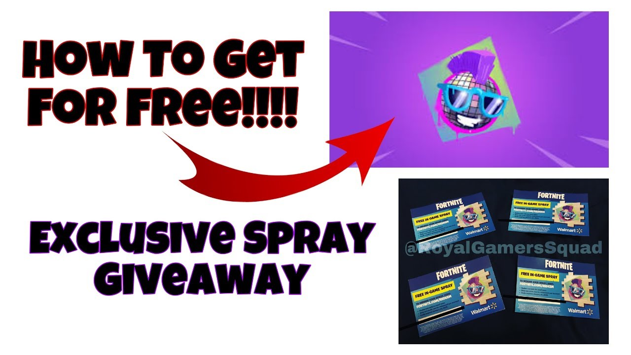 Fortnite Walmart Spray Giveaway Part 1 Youtube - Ballersinfo com