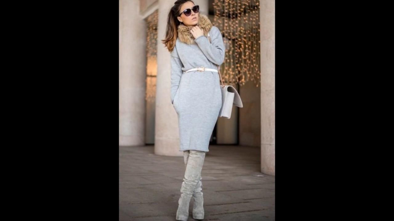 99db94f92437a42 Модное платье-свитер: новинки на 2019 год на фото, с чем их носить